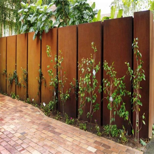 hàng rào bằng thép corten