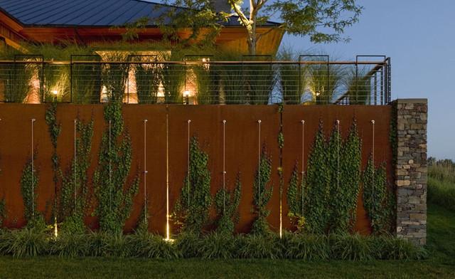 thi công hàng rào corten